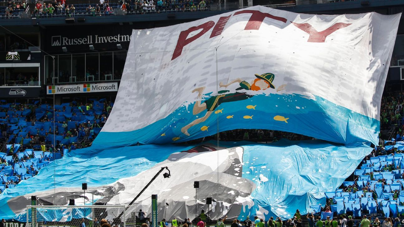 Seattle Sounders fans' tifo
