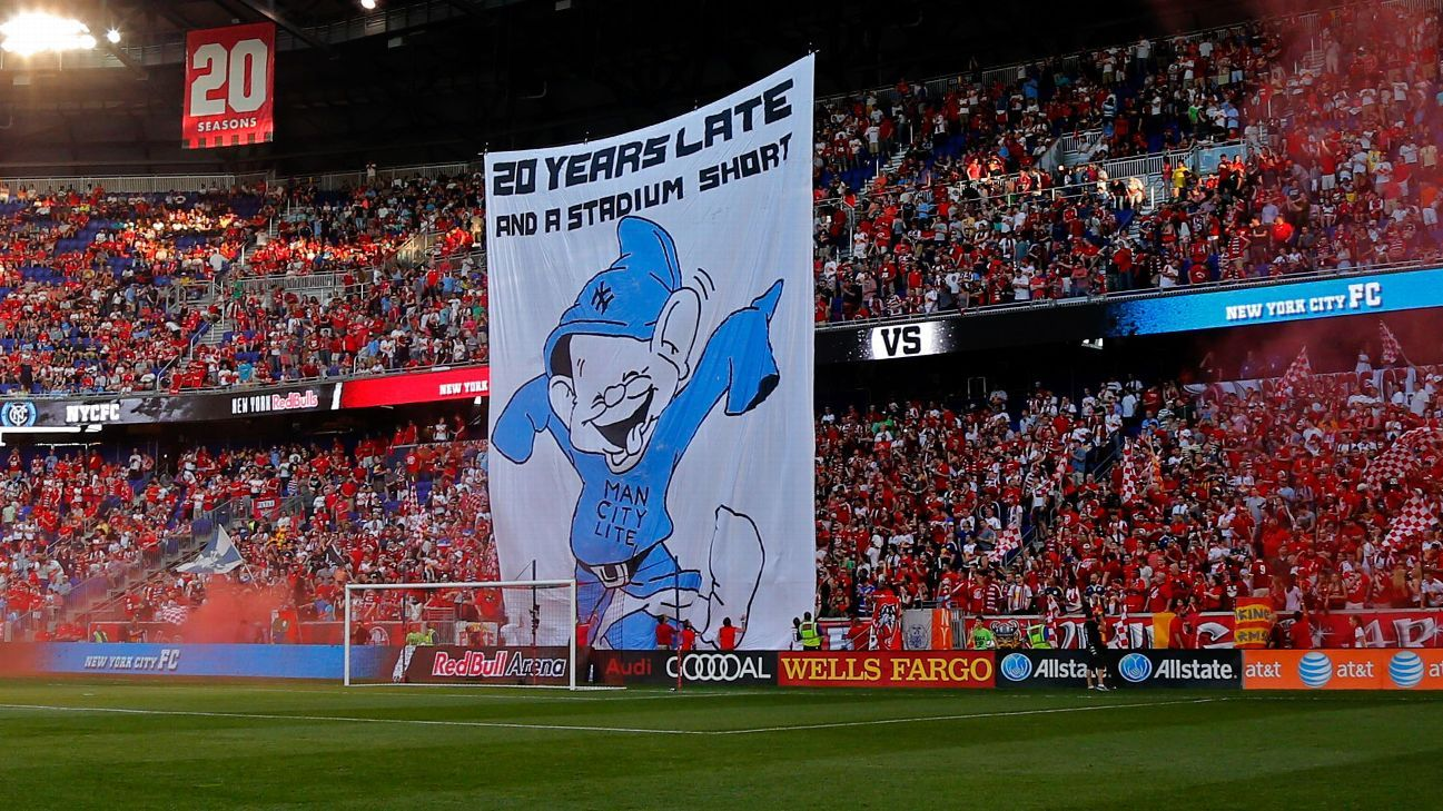 New York Red Bulls fans' tifo