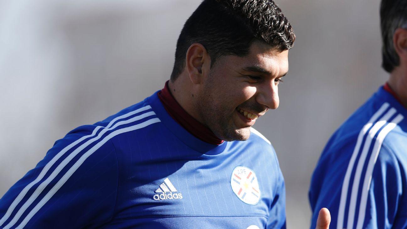 Nestor Ortigoza with Paraguay