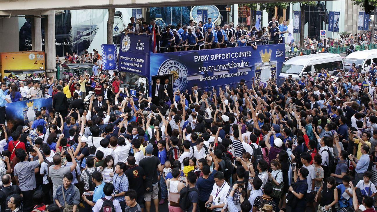 Leicester Bangkok bus celebrations