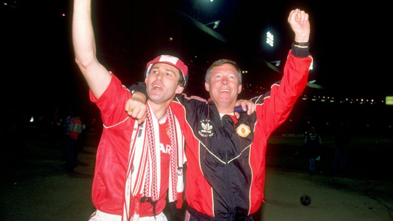 Sir Alex celebrating 1990 FA Cup
