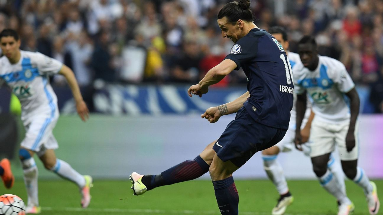 Ibra scoring French cup