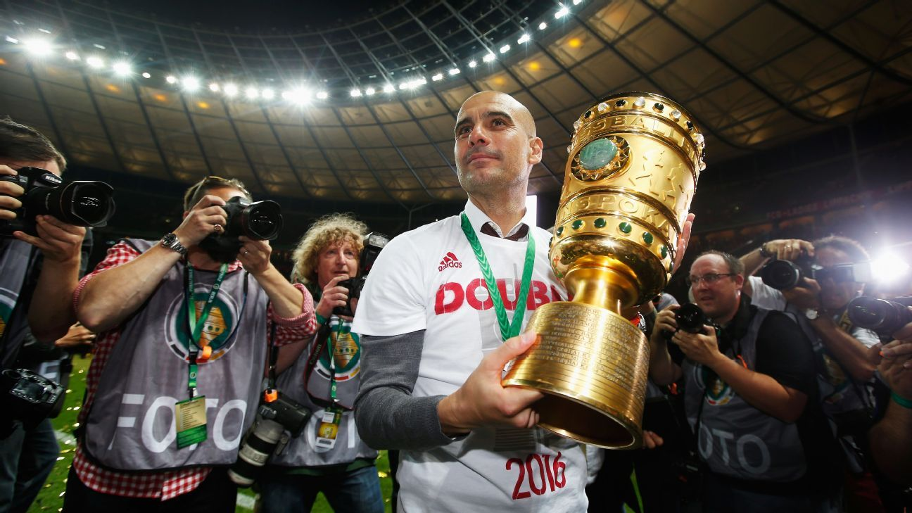 Pep Guardiola with DFB-Pokal Cup