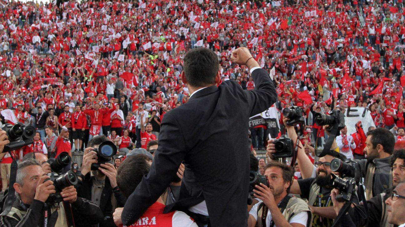 Braga's head coach Paulo Fonseca