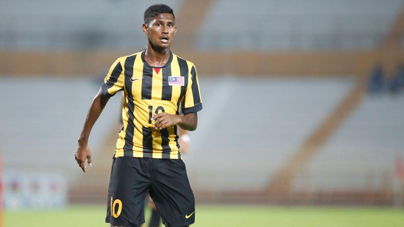 Malaysia striker S. Kumaahran