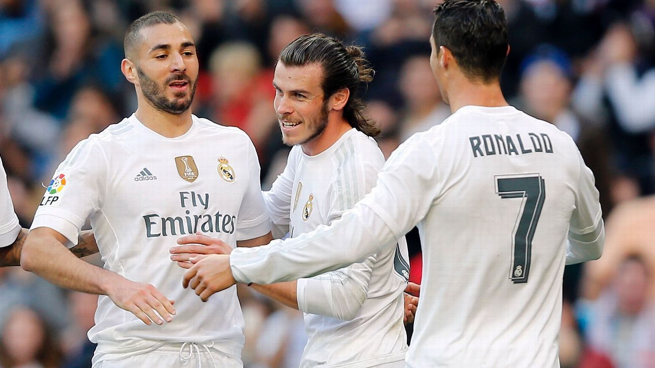 Benzema Bale and Ronaldo