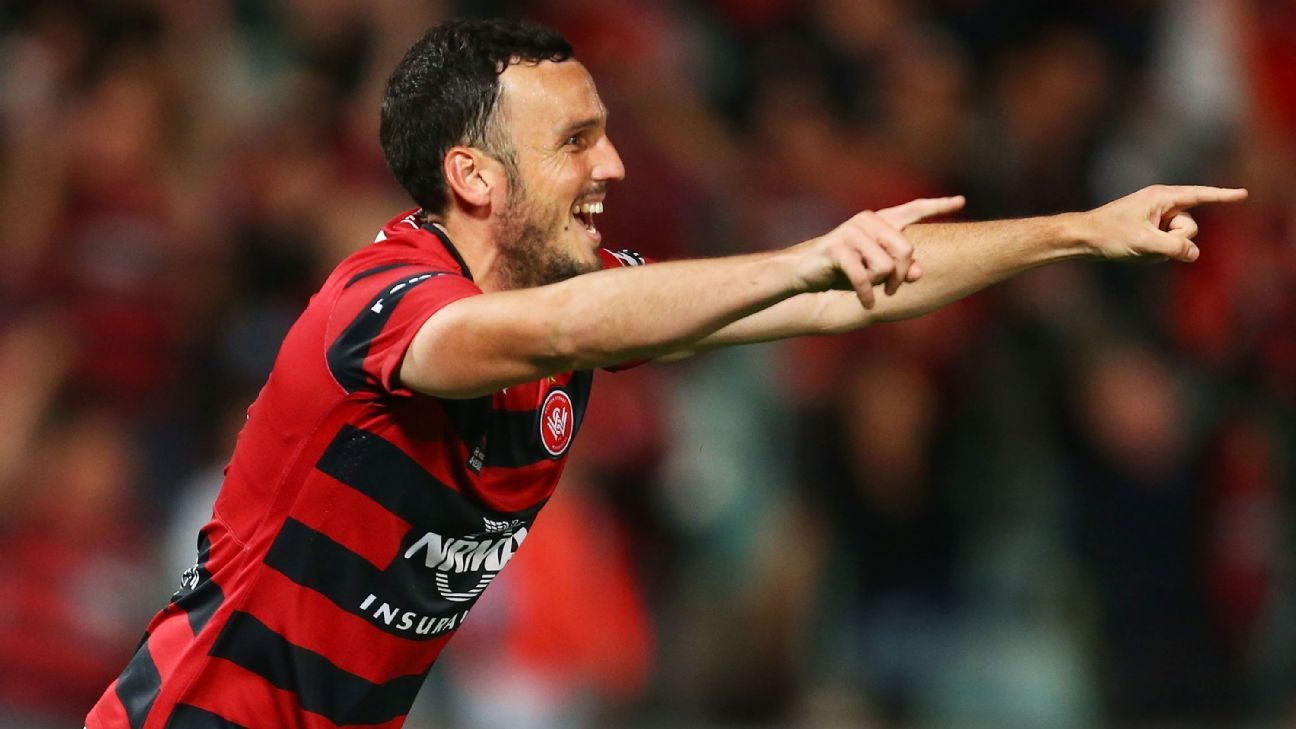 Western Sydney striker Mark Bridge