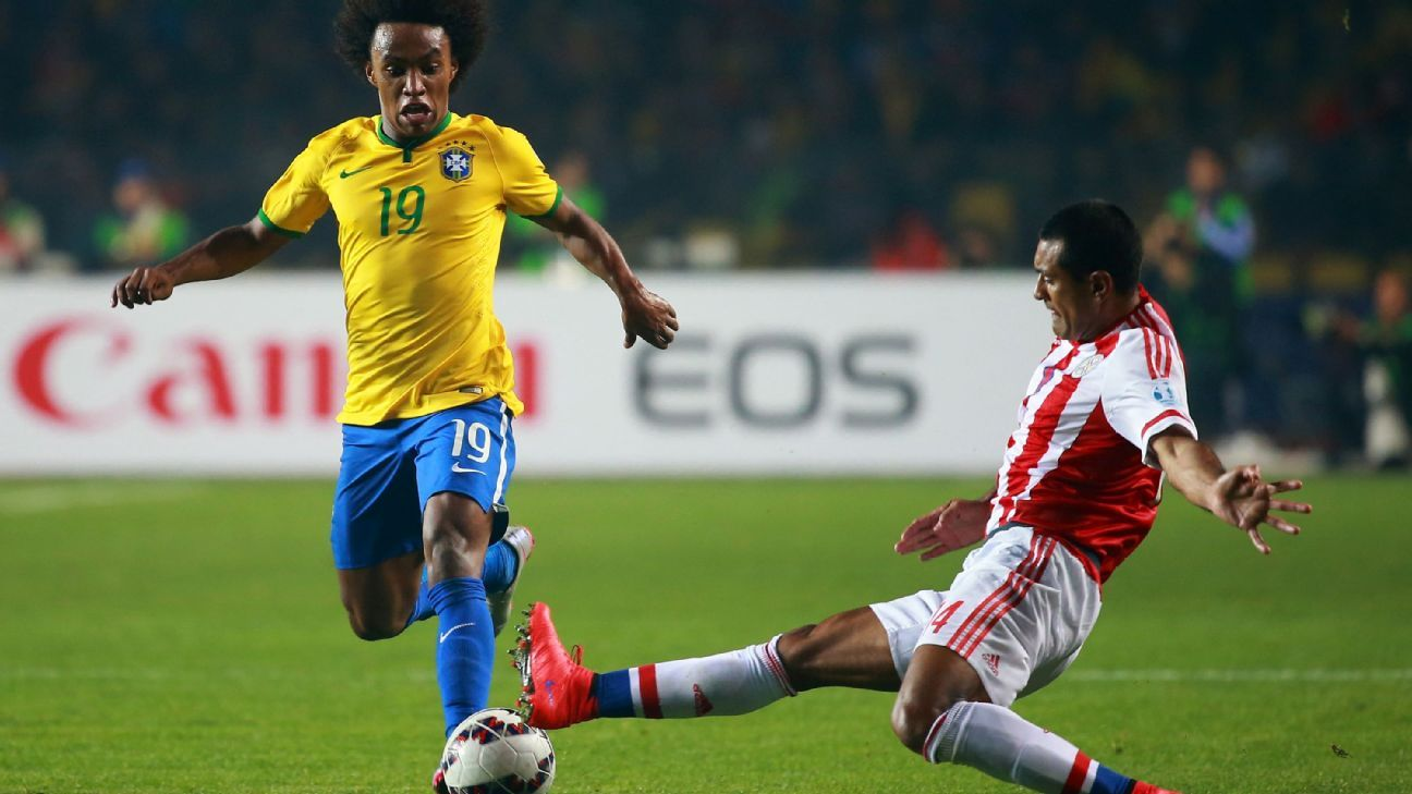 Willian and Brazil look to rebound from a recent run of disappointing finishes at major tournaments.