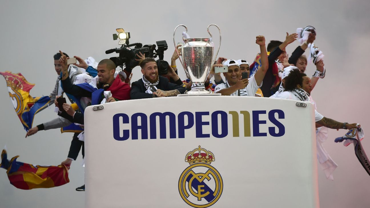 Real Madrid parade celebration