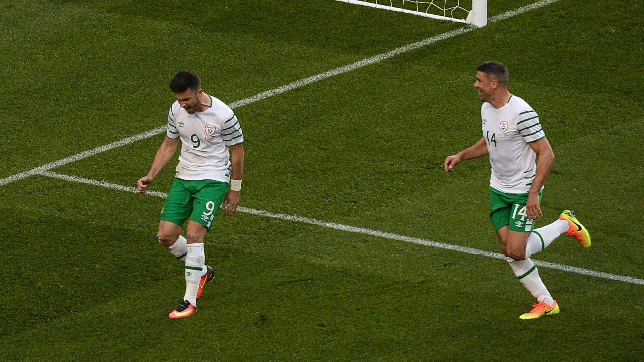 Shane Long and Jon Walters Ireland