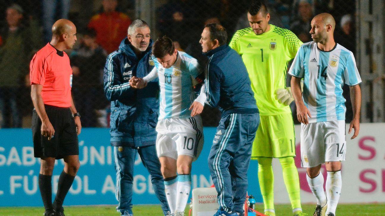 Messi hurt vs. Honduras