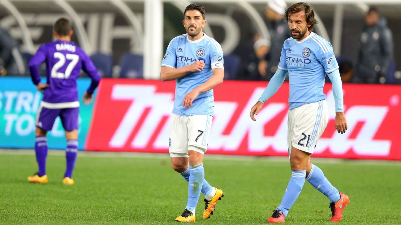 David Villa and Andrea Pirlo