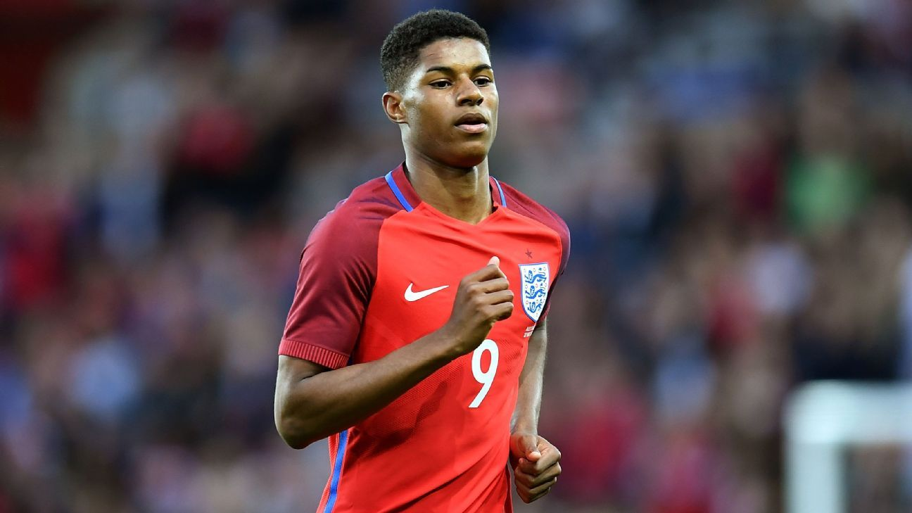 Marcus Rashford with England