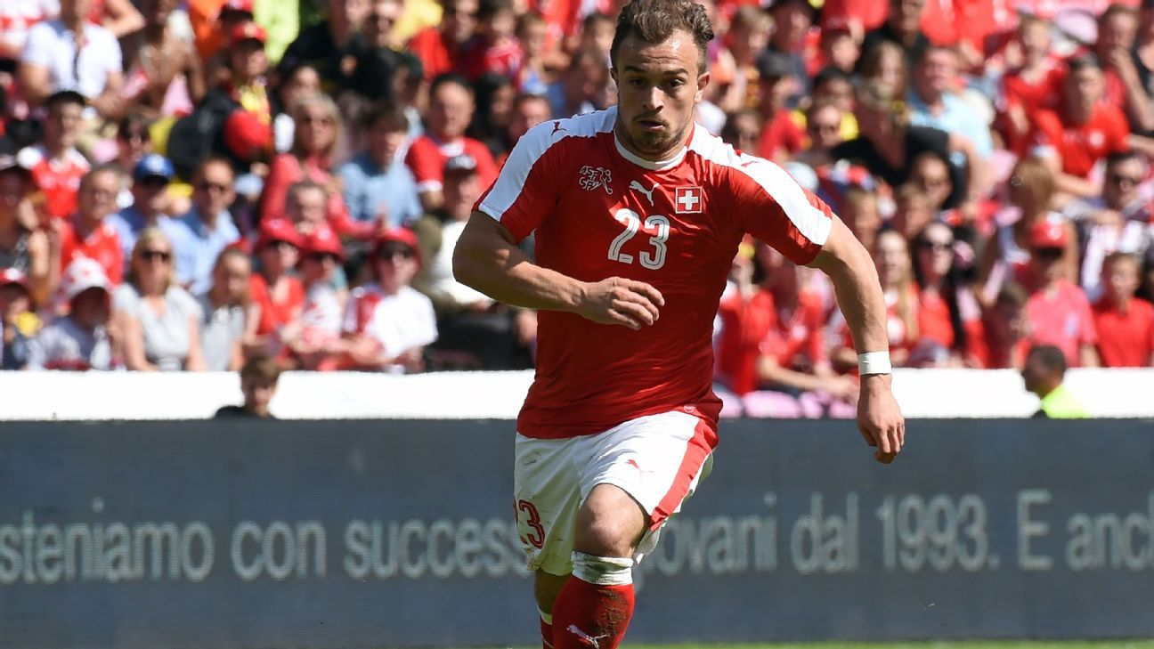 Xherdan Shaqiri with Switzerland