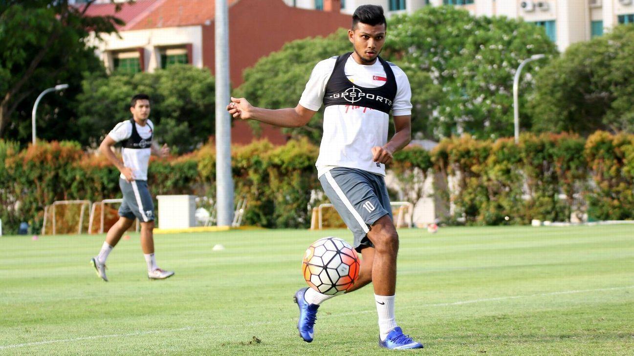Singapore striker Fazrul Nawaz