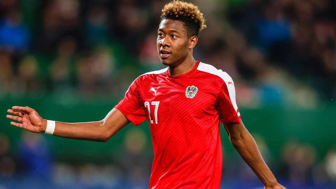 David Alaba with Austria