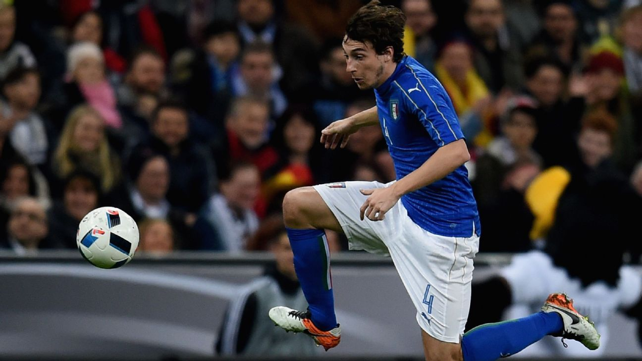 Matteo Darmian with Italy