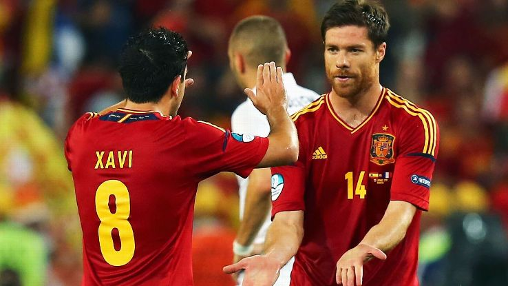 Xavi and Xabi Alonso Euro 2012