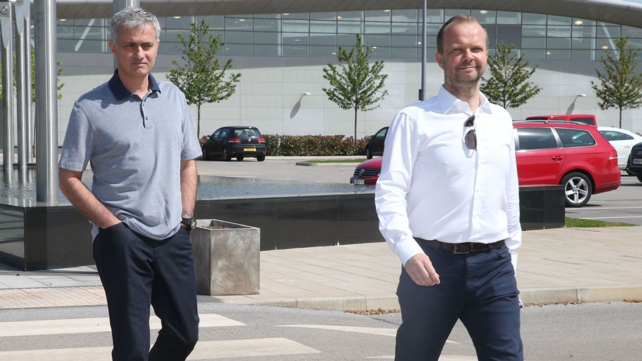 Jose Mourinho, left, and Ed Woodward, right, are two of the main decision makers at Manchester United.