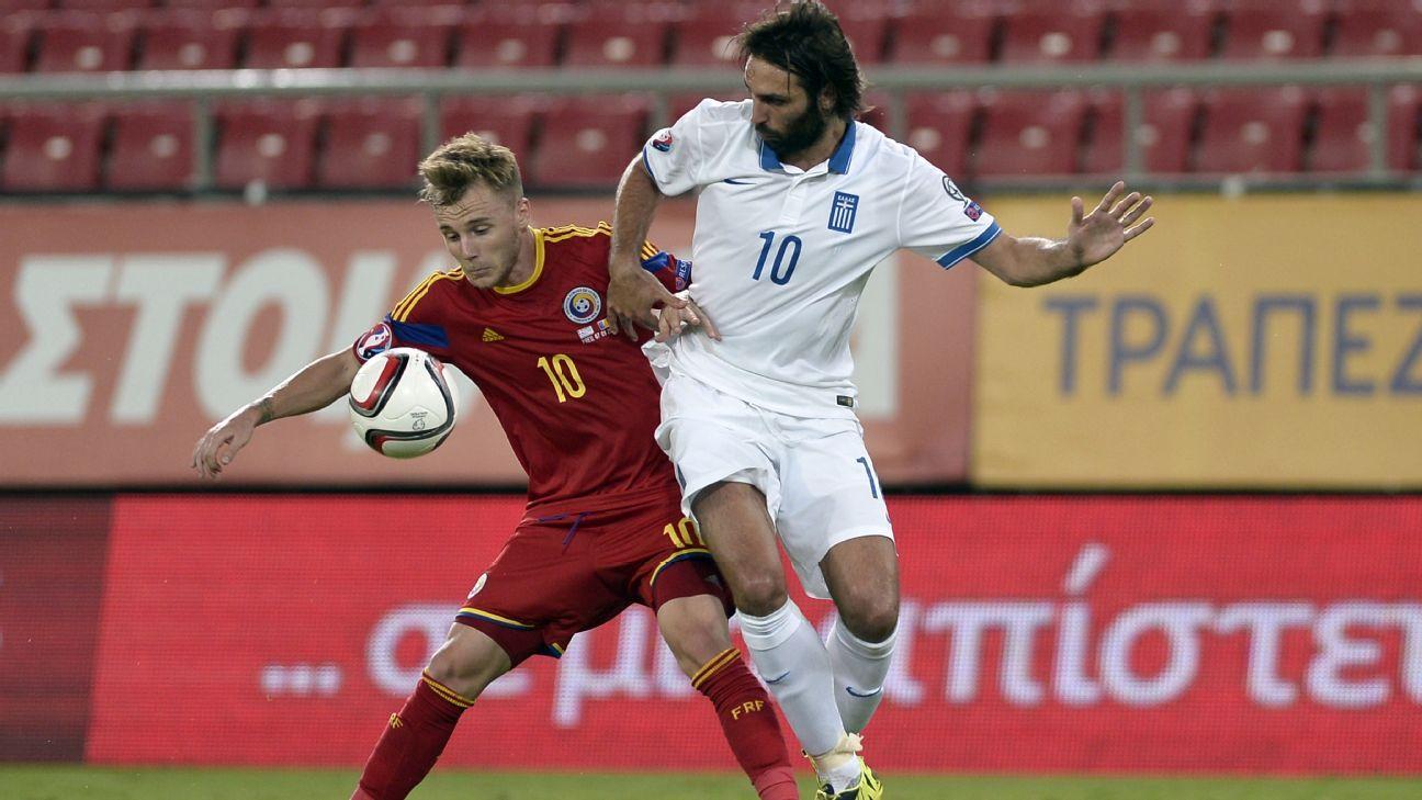 Romania midfielder Alexandru Maxim