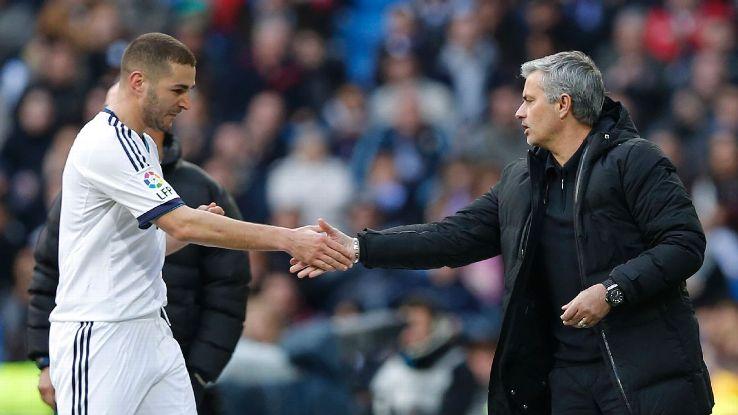 Benzema y Mourinho