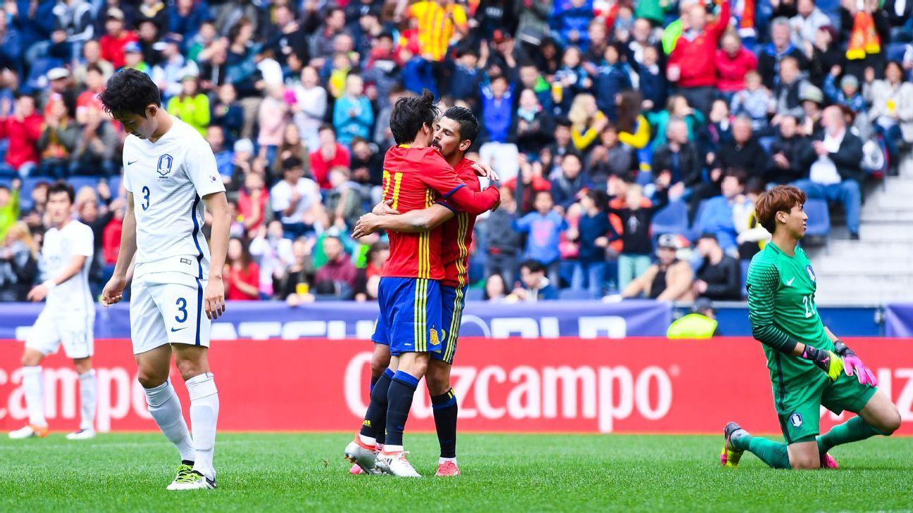 Nolito goal celeb Spain