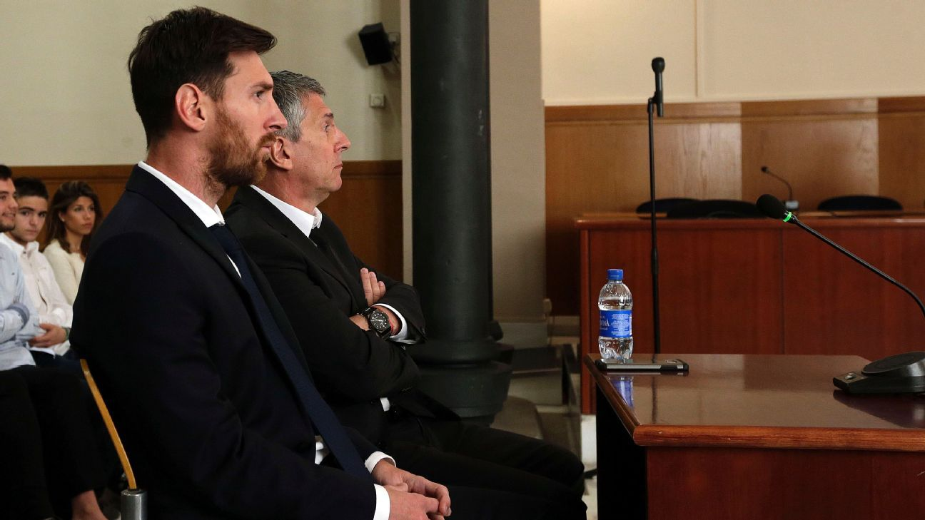 Barcelona's Lionel Messi in tax court: I played football and trusted my father