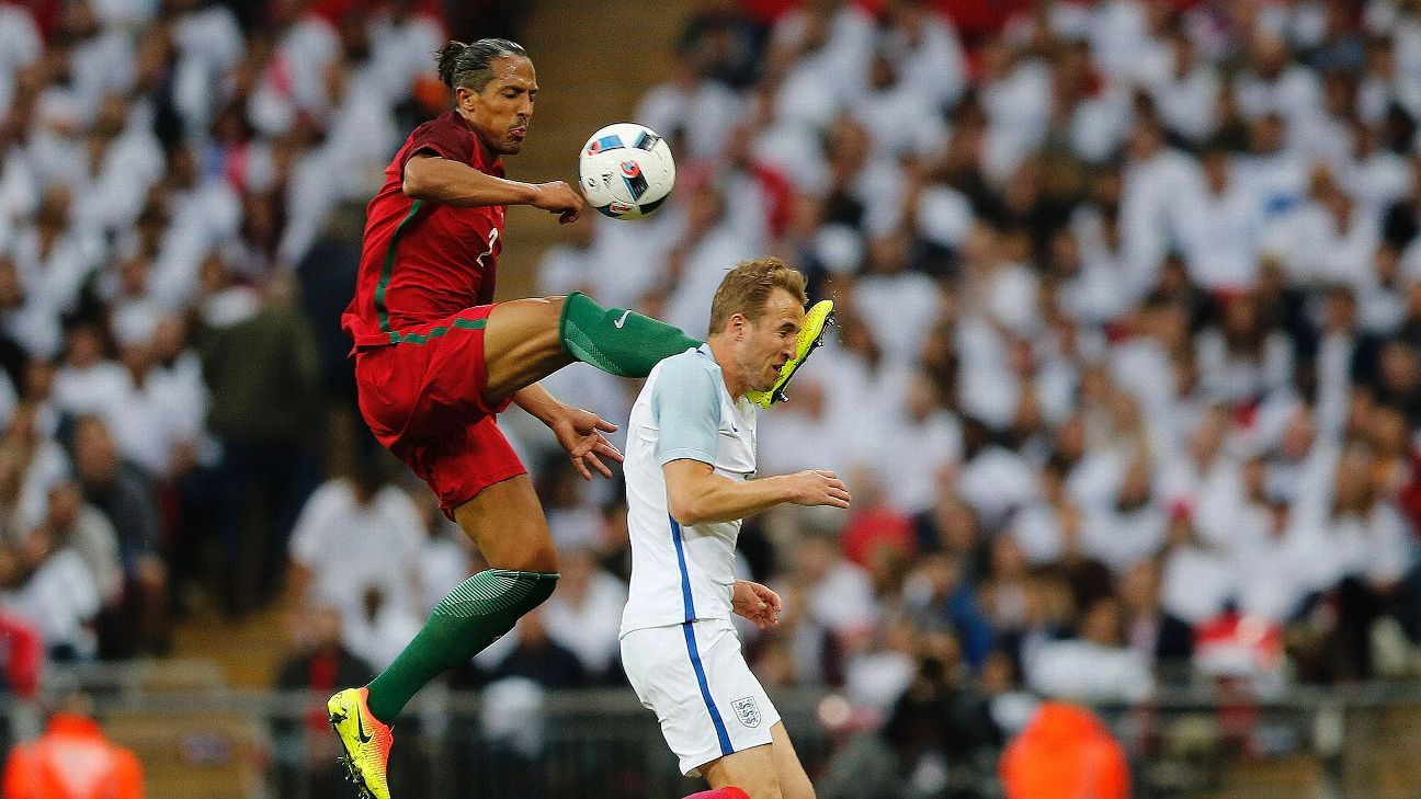 Bruno Alves was sent off for Portugal in the first half.