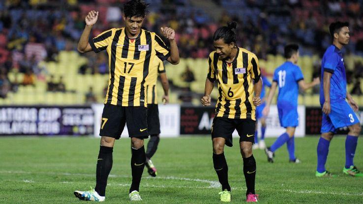 Malaysia U21 goal celebration