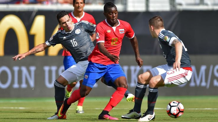 Joel Campbell and Costa Rica could not find a way past Paraguay on Saturday.
