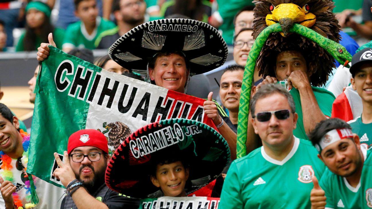 Mexico fans vs Uruguay 160605