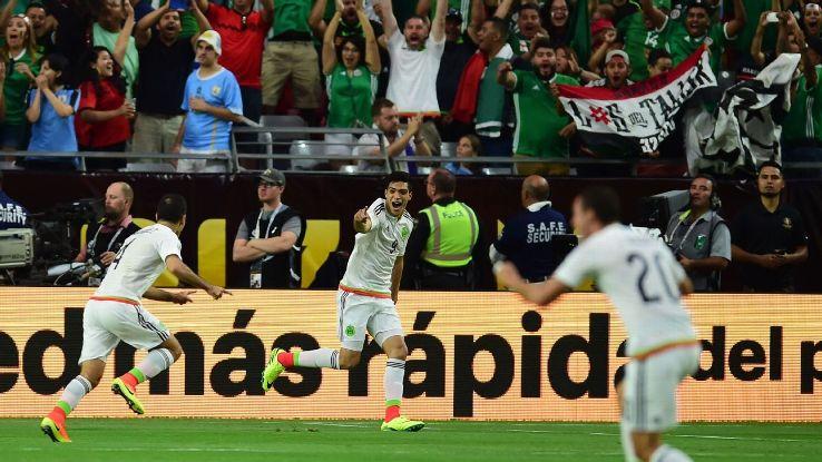 Rafa Marquez goal celeb v uruguay