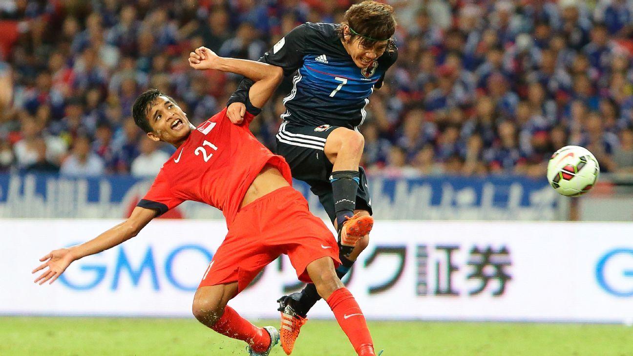 Singapore midfielder Safuwan Baharudin