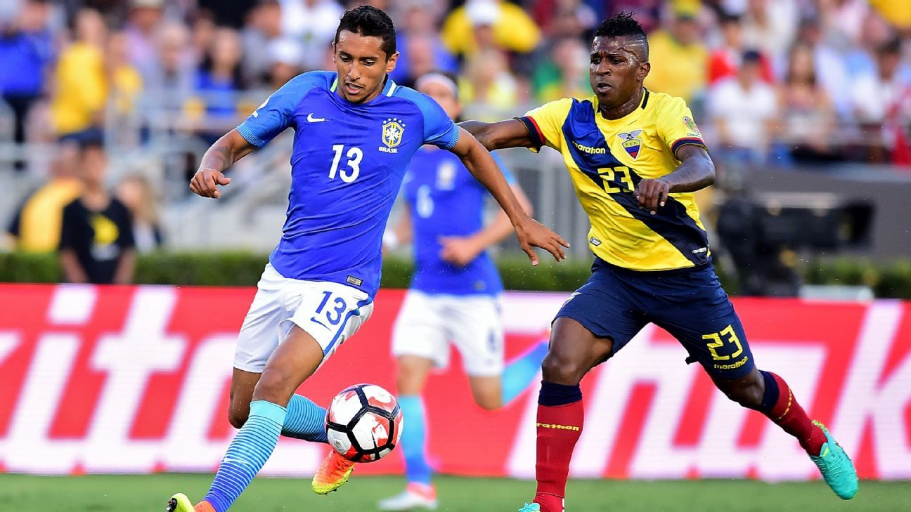 Marquinhos of Brazil vs. Ecuador