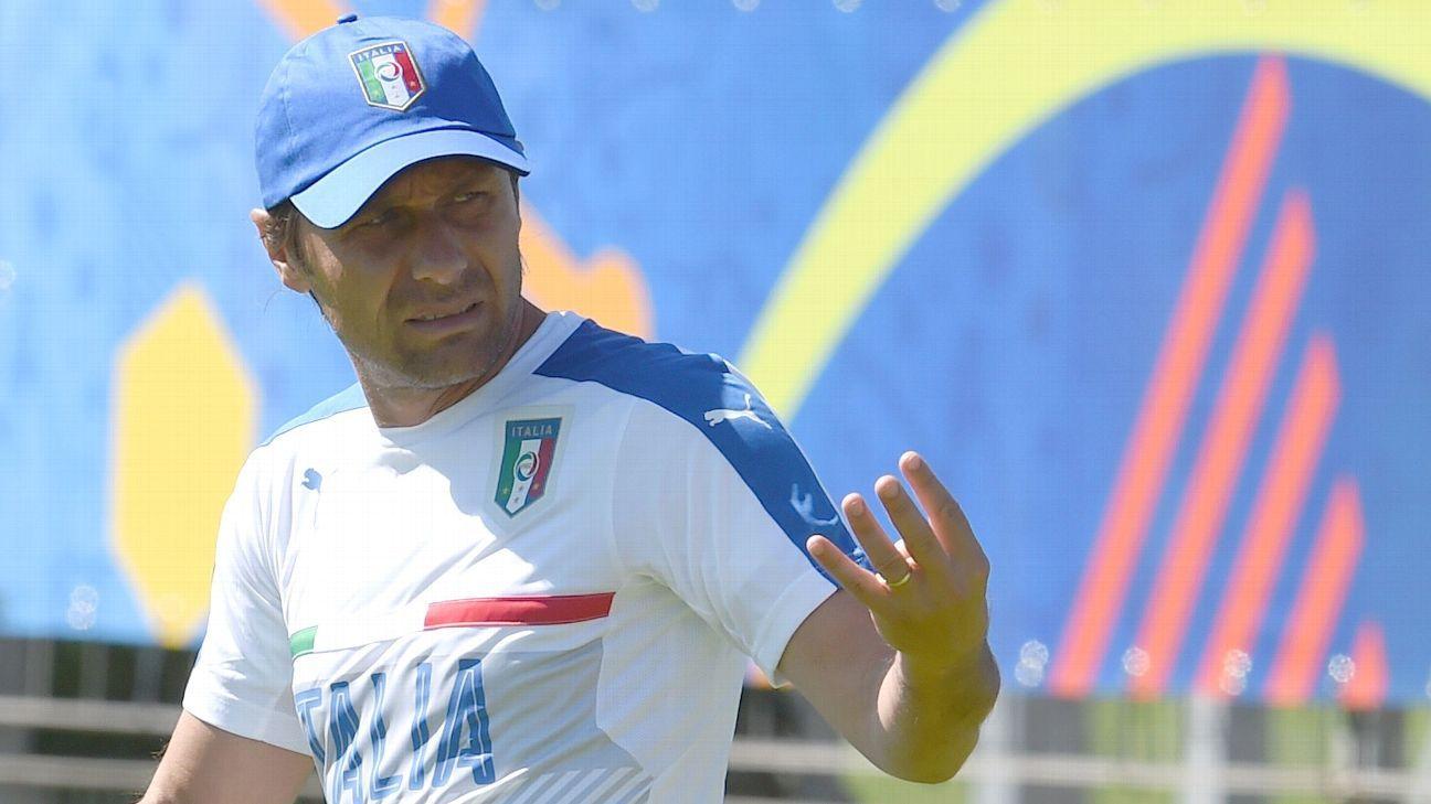 Antonio Conte with Italy