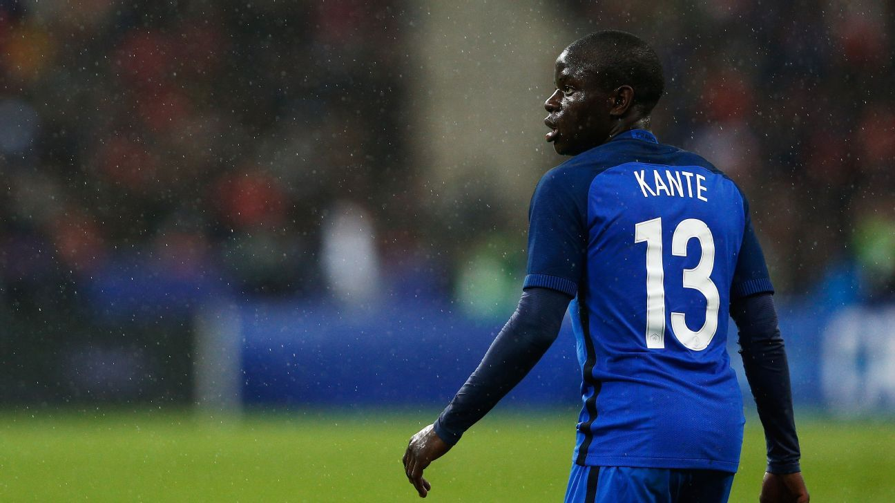 France midfielder N'Golo Kante