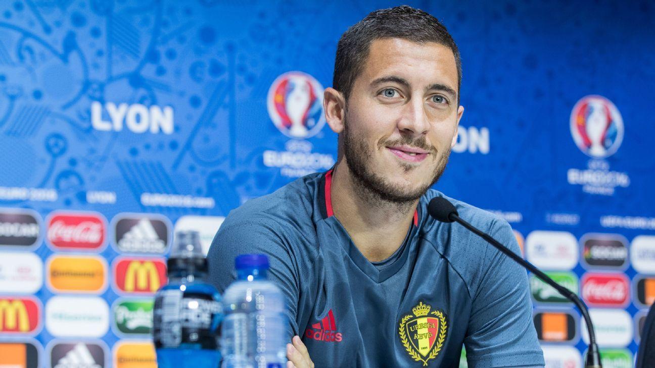 Eden Hazard Belgium news conference