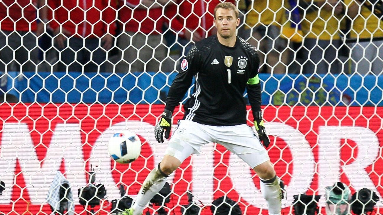 Manuel Neuer for Germany v Ukraine