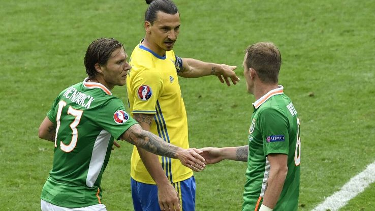 Zlatan and Ireland players