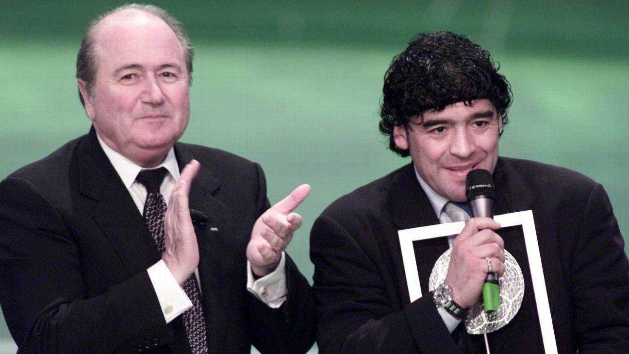 Sepp Blatter and Diego Maradona 2010