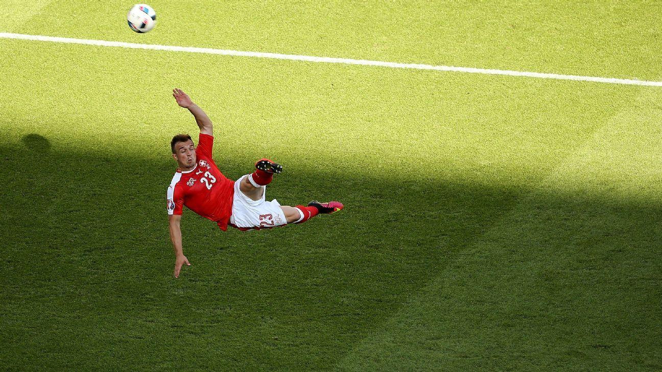 Stoke and Switzerland star Shaqiri scores three epic volleys