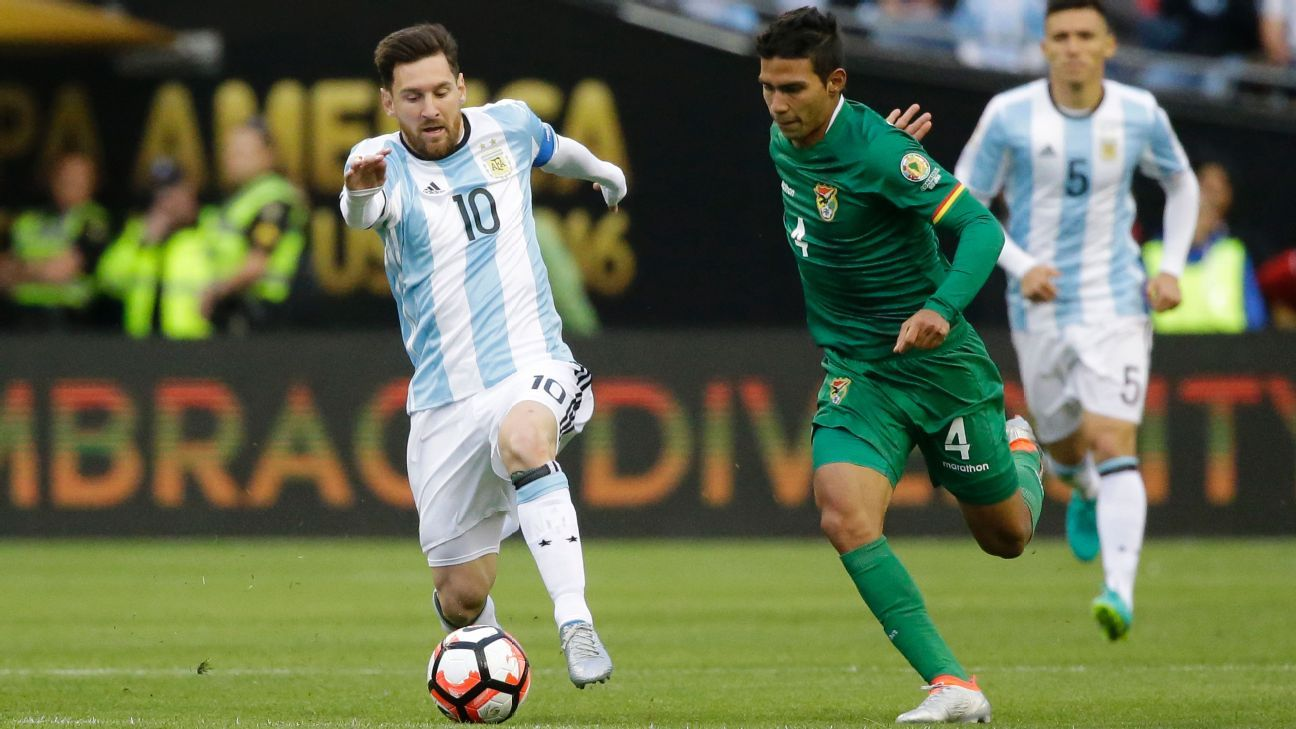 Messi actoin vs Bolivia 160615