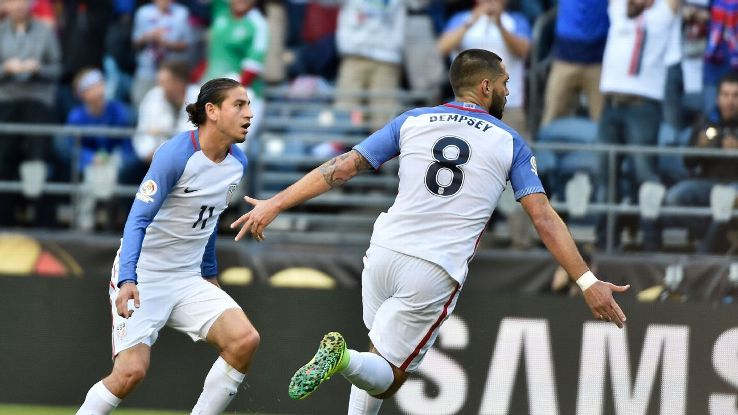 Clint Dempsey opened the scoring in the 22nd minute with a well-placed header.