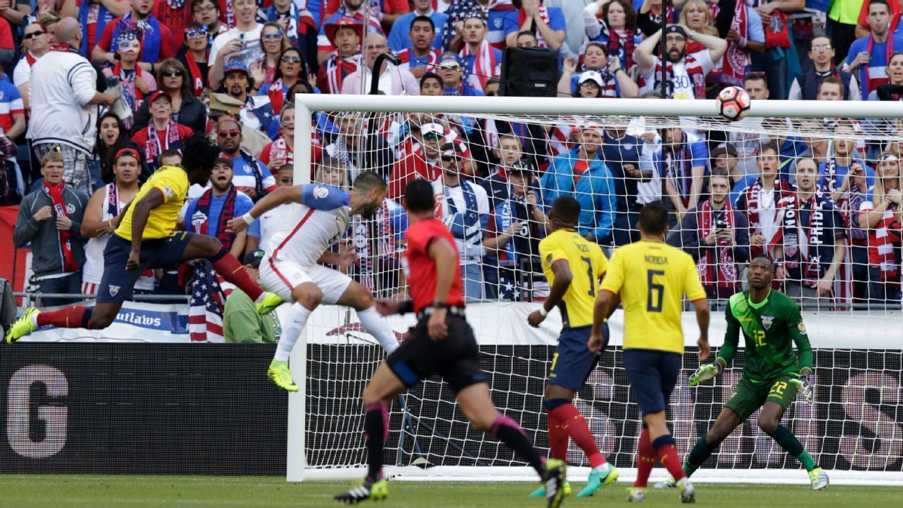 Dempsey header vs Ecuador 160616