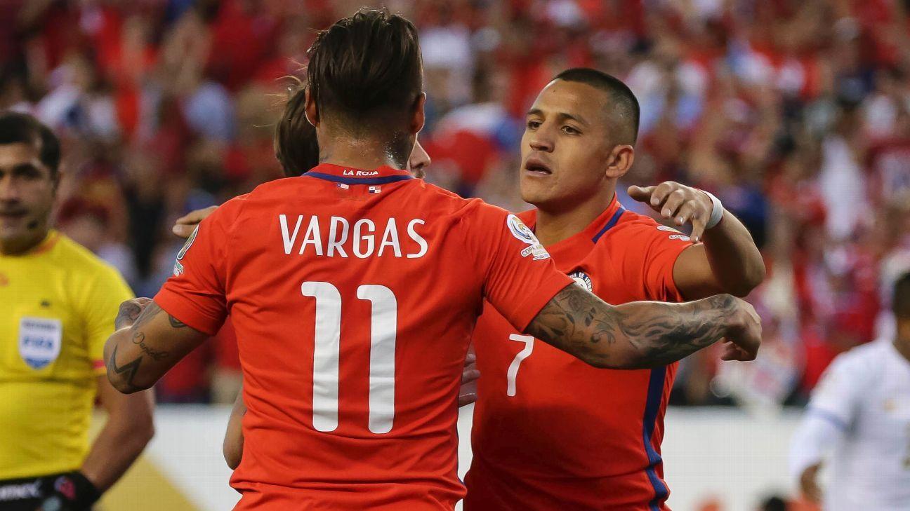 Eduardo Vargas and Alexis Sanchez