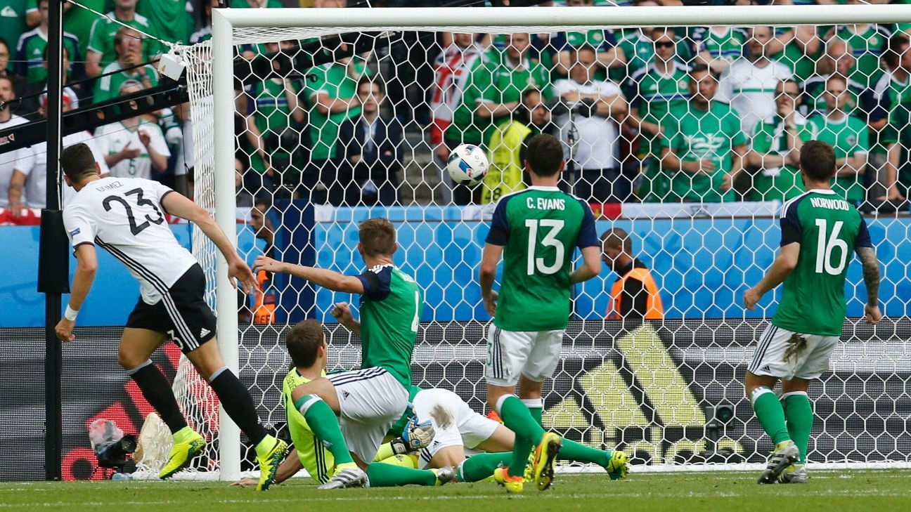 Mario Gomez's goal was all Germany needed to beat Northern Ireland.
