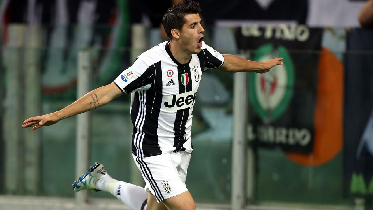 Alvaro Morata Juventus celebrating