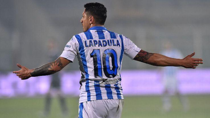 Gianluca Lapadula of Pescara Calcio
