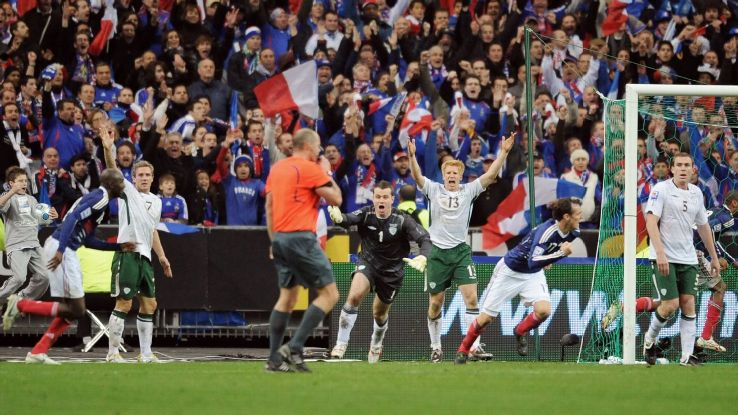 Ireland reaction Henry handball