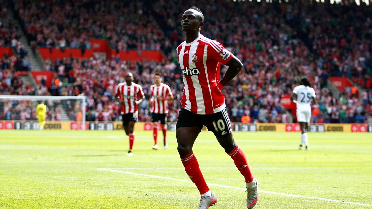 Sadio Mane with Southampton